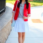 Outfit Highlight: Stripes and Brights and Eyelet, Oh My!