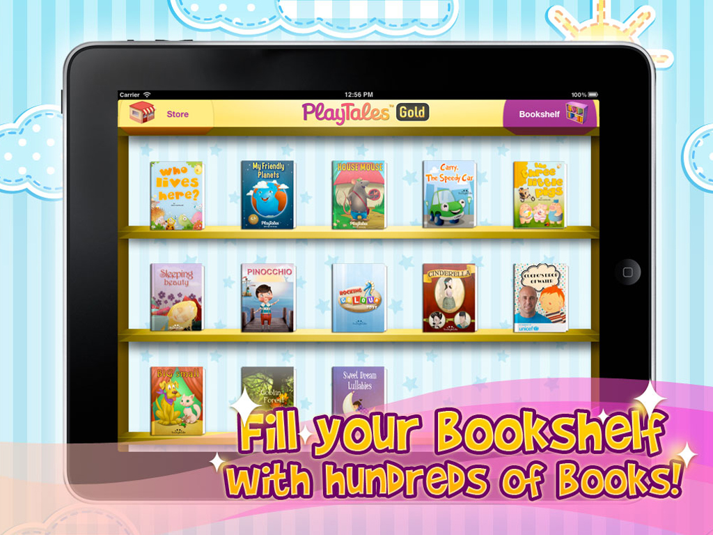 PlayTales Gold Bookshelf