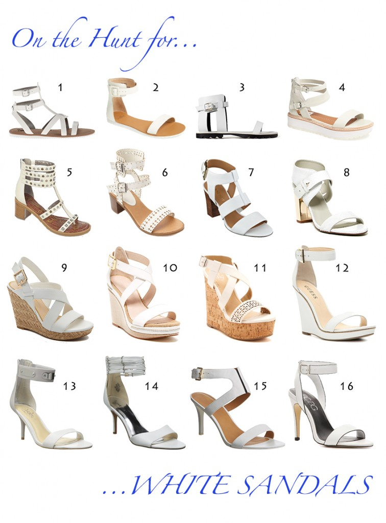 On the Hunt for...White Sandals