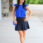 Outfit Highlight: Cobalt and Short Skirts