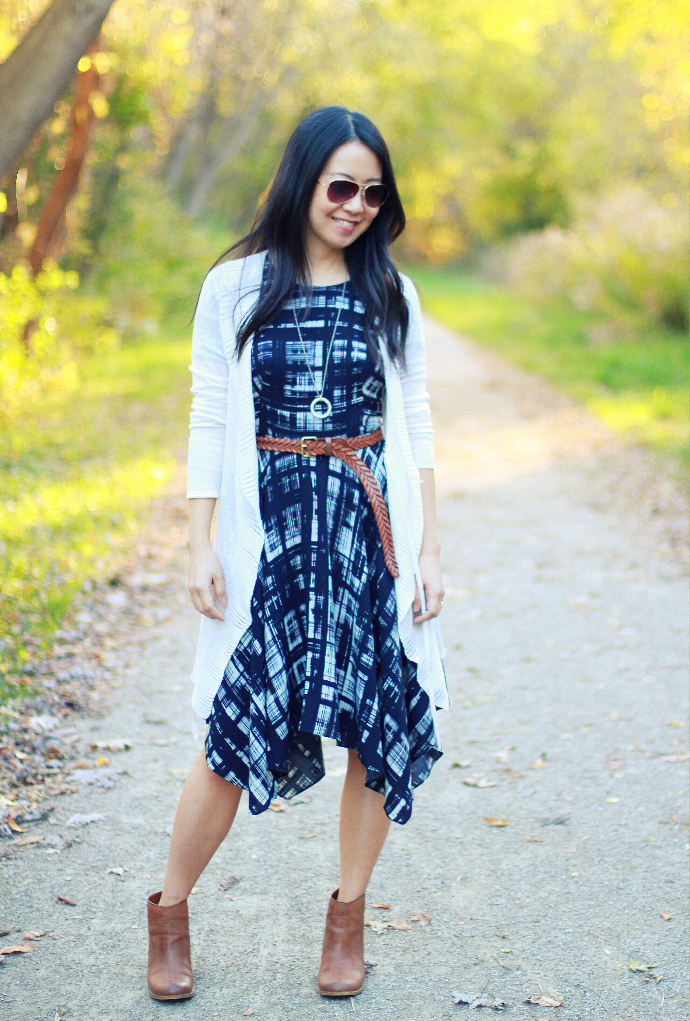 d9a0a2d08145 From Country Chic to City Sleek: Painted Plaid Dress - My Rose ...