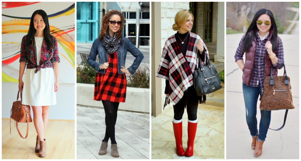 plaid, buffalo plaid, poncho, fringe cardigan, Forever 21, puffy vest, tartan