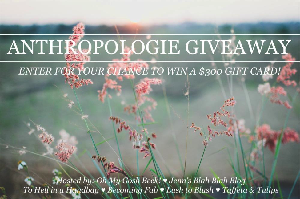 Anthropologie, giveaway, sweepstakes, sales