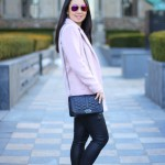 Outfit Highlight: A Pink Coat and a Quilted Bag