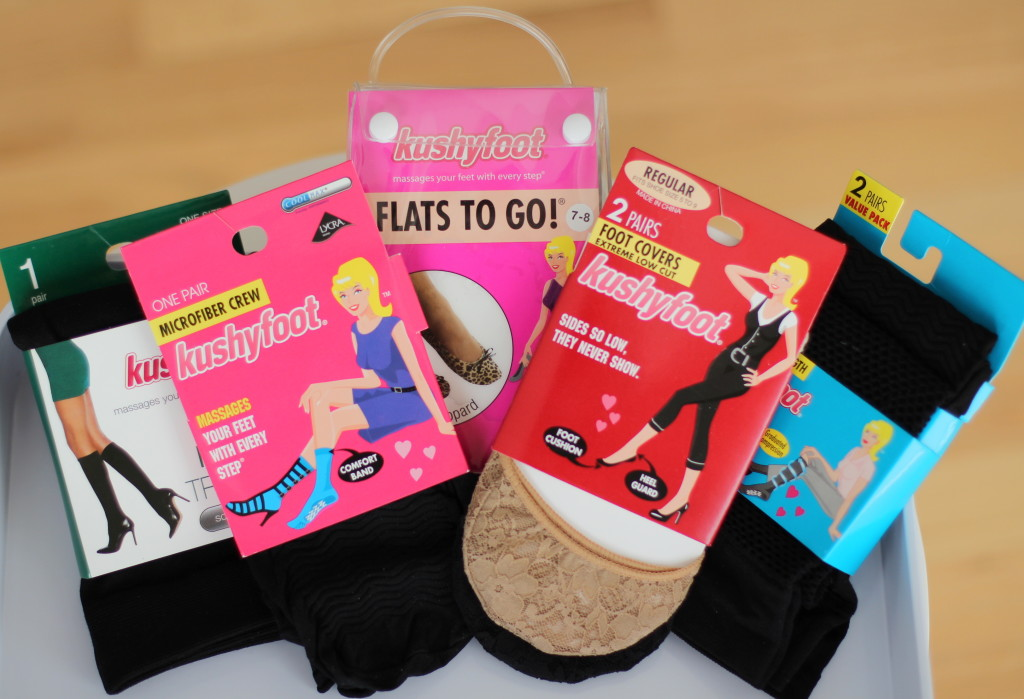 Kushyfoot, low cut foot covers, Flats to Go, knee highs