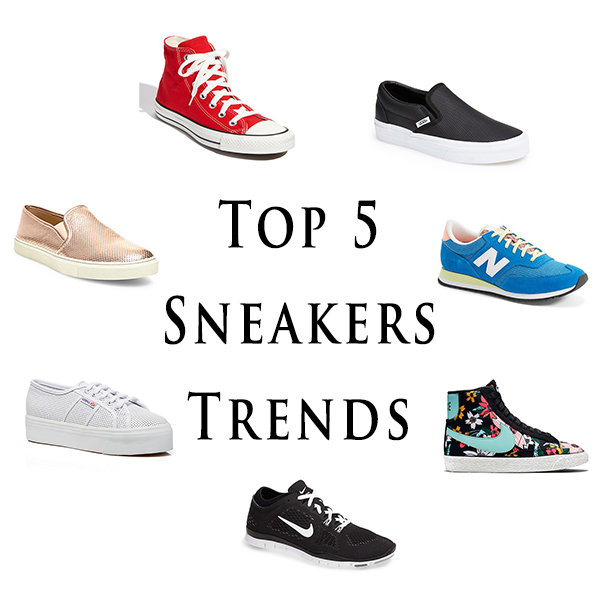 spring fashion trends, sneakers, sporty chic