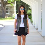 Outfit Highlight: Black, White and Olive