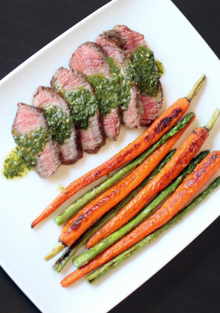 Grilled Flat Iron Steak With Chimichurri Sauce Recipe ...