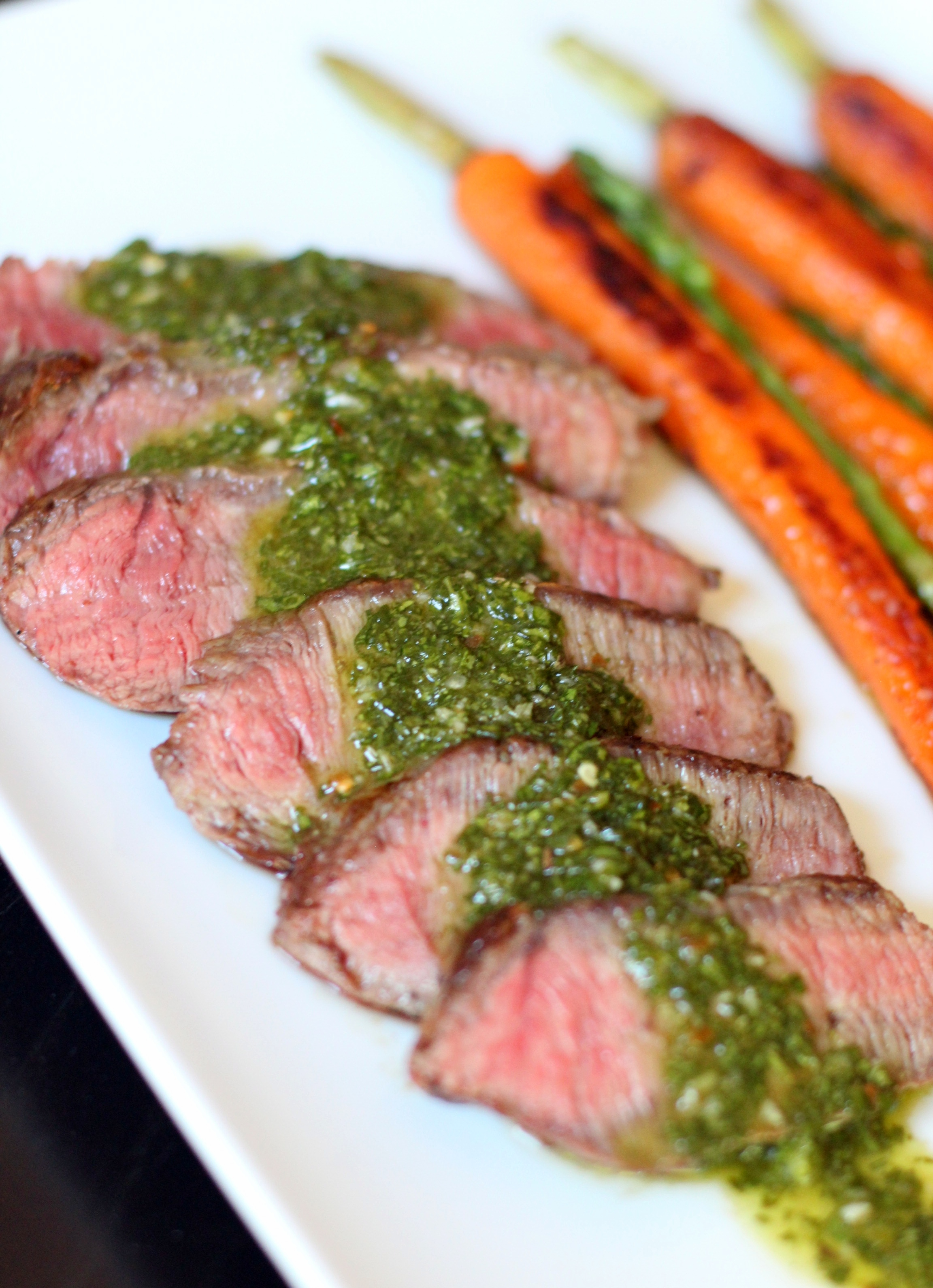 Recipe Highlight: Flat Iron Steak with Chimichurri Sauce - My Rose ...
