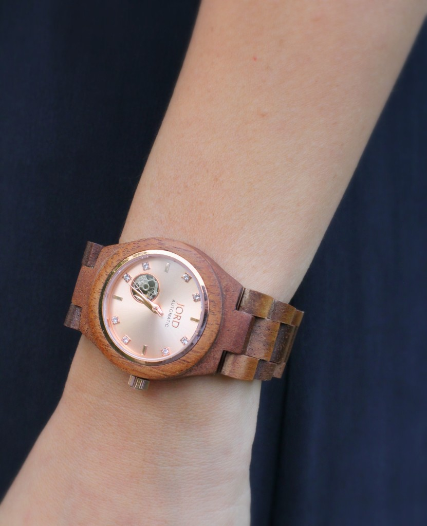 JORD watch, wood watches, earth tones, Koa, rose gold